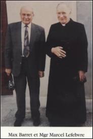 Max Barret et Mgr Marcel Lefebvre