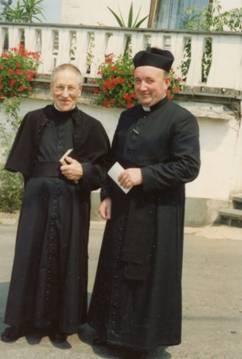 Abbé Joseph Vérité (†) et abbé Paul Schoonbroodt, le 22 juillet 1990