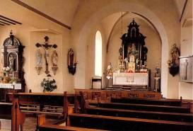 Maître-autel de l'église paroissiale de Steffeshausen (Belgique) où ont eu lieu les deux miracles eucharistiques des 3 octobre et 12 décembre 1971, alors que l'abbé Schoonbroodt y disait la messe de Saint PieV